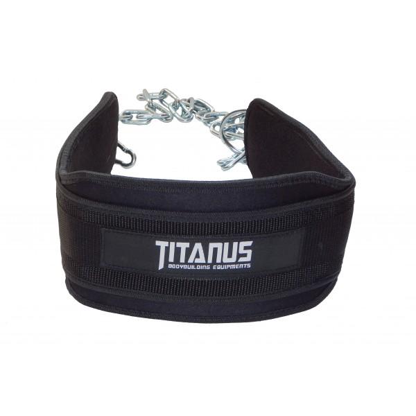 TITANUS pás s dopomocí s řetězem Dip belt
