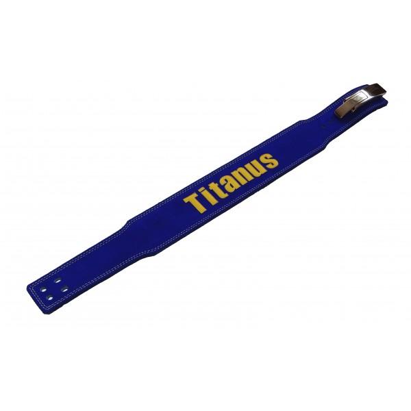 TITANUS fitness Opasek s pákovou přezkou 10/8 (modrá)