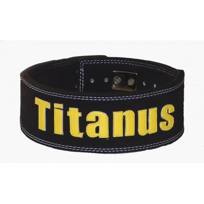 Fitness Opasek s pákovou přezkou 10/8 (černá) - TITANUS