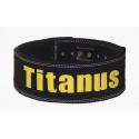 TITANUS fitness Opasek s pákovou přezkou 10/8 (černá)