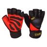 Profesionální tréninkové rukavice TRINITY s omotávkou pro dokonalou fixaci zápěstí a oporou při zvedání těžkých vah.