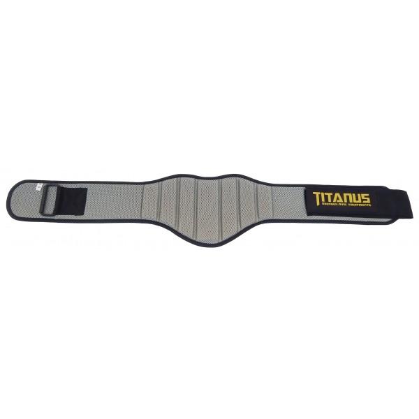 TITANUS fitness opasek nylonový (šedá)