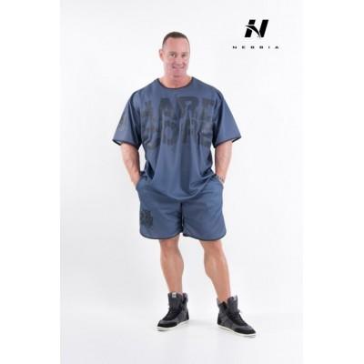 Nebbia HardCore Fitness šortky 302 - modrá