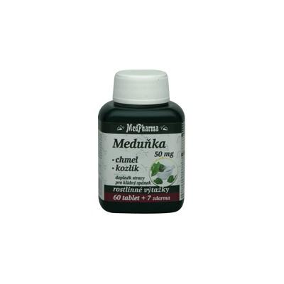 MedPharma Meduňka 50 mg + chmel + kozlík, 67 tobolek.