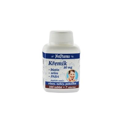 MedPharma Křemík 30 mg + biotin + selen + PABA, 107 tobolek.