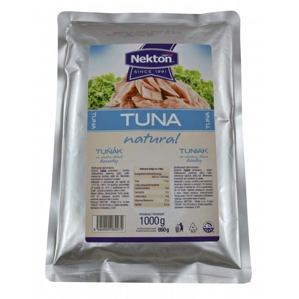 NEKTON Tuňák ve vlastní šťávě kousky 1000 g