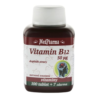 MedPharma Vitamin B12 (kyanokobalamin) , 107 tablet