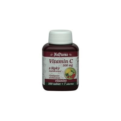 MedPharma Vitamin C 500 mg s šípky, prodloužený účinek, 107 tablet