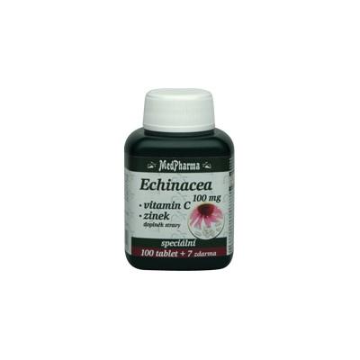 MedPharma Echinacea 100 mg + vitamin C + zinek, 107 tablet