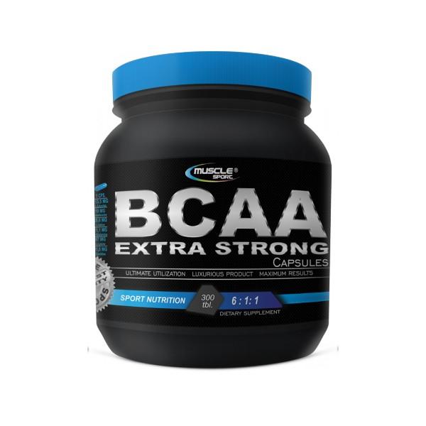 Muscle sport BCAA Extra Strong 6:1:1 300 kapslí