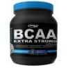 BCAA Extra Strong Caps je vysoce účinná směs volných větvených esenciálních aminokyselin (L-Leucin, L-Isoleucin, L-Valin), doplněná o neesenciální aminokyseliny.