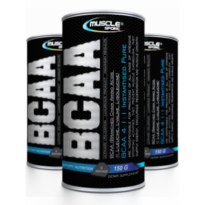 Muscle sport BCAA 4:1:1 PURE. 150 g.