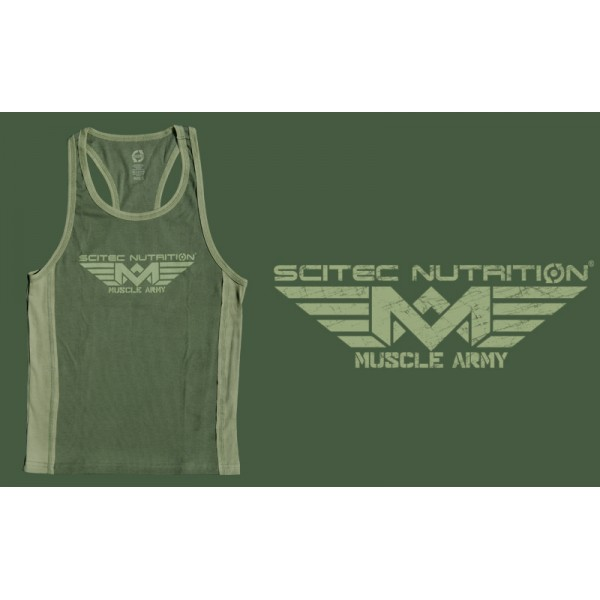 Scitec Nutrition Tank Top Muscle Army Green