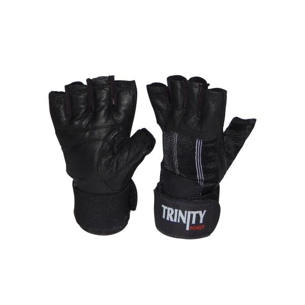 Fitness Rukavice Trinity s omotávkou - černá