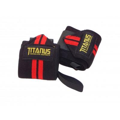Bandáže zápěstí (černá/červená) - TITANUS