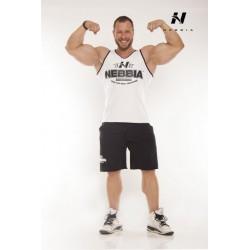 Nebbia Fitness Nátělník lem 969-černý