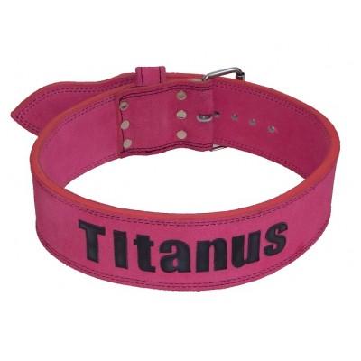 Opasek Powerlifting jednoduchá přezka (růžová) - TITANUS