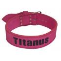 Titánus - Opasek Powerlifting růžový, jednoduchá přezka