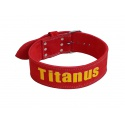 TITANUS opasek Powerlifting jednoduchá přezka (červená)