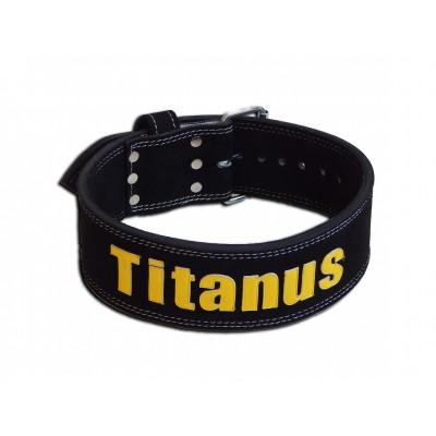 Opasek Powerlifting jednoduchá přezka (černá) - TITANUS