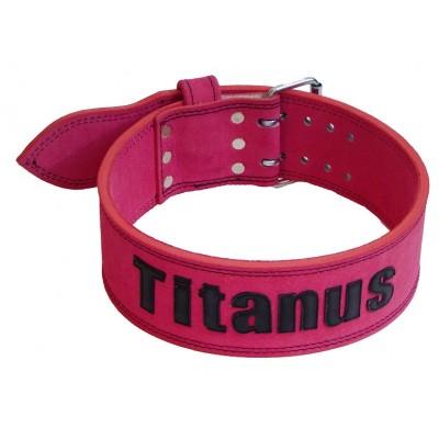 Opasek Powerlifting dvojitá přezka (růžová) - TITANUS