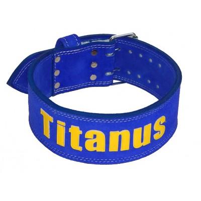 Opasek Powerlifting dvojitá přezka (modrá) - TITANUS