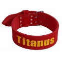 Titánus - Opasek Powerlifting červený, dvojtá přezka
