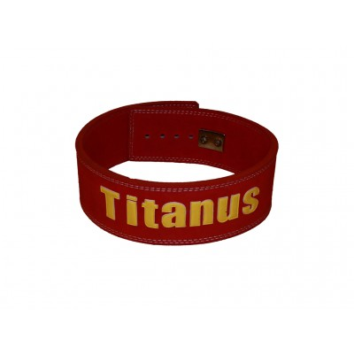 Fitness Opasek s pákovou přezkou (červená) - TITANUS