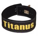 TITANUS fitness Opasek s pákovou přezkou (černá)