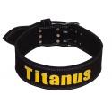 Titánus - Opasek Powerlifting černý, dvojtá přezka