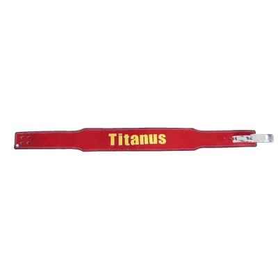 Fitness Opasek s pákovou přezkou 10/8 Titánus - červený