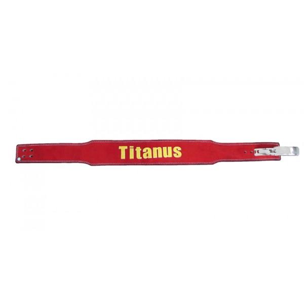 TITANUS fitness Opasek s pákovou přezkou 10/8 (červená)