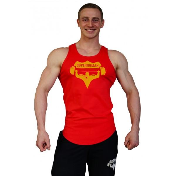 Tílko Superhuman velké logo - oblé/červené