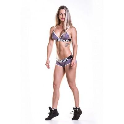 NEBBIA - Trojúhelníková fitness podprsenka 267 - fialová