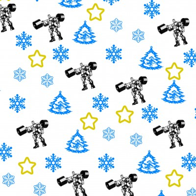 Vánoční balící papír fitness - motiv č.2