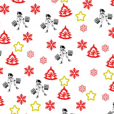 Vánoční balící papír fitness - motiv č.1