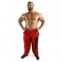 Bizon Gym Tepláky 101 - červená/černá