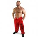 Bizon Gym Tepláky 109 - červená/černá
