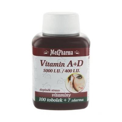 MedPharma Vitamin A + D (5000 I.U./400 I.U.), 107 tobolek.