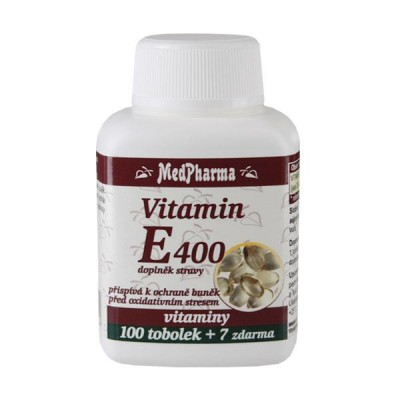 MedPharma Vitamin E 400 mg, 107 tobolek.