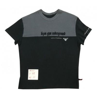 Černo-šedé triko s nápisem motivem velikost M