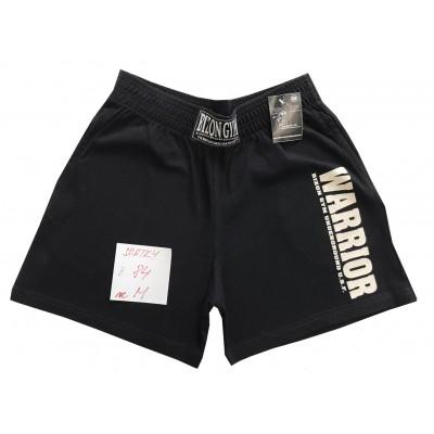 Černé šortky s nápisem Warrior velikost M