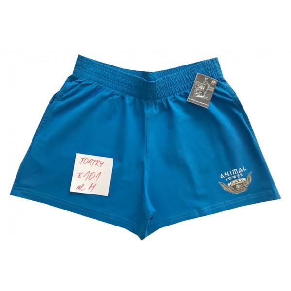 Modré šortky s malým motivem velikost M