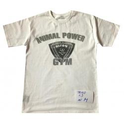 Bílé triko s motivem na hrudi velikost M
