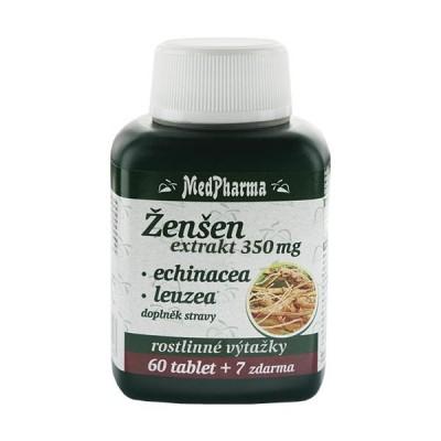 MedPharma Žen-šen 350 mg + Echinacea + Leuzea 67 tobolek.