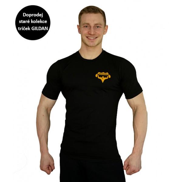 Tričko Superhuman - černá/žlutá XXL