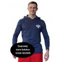 Tričko s kapucí Superhuman - modrá/bílá