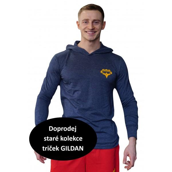 Tričko s kapucí Superhuman - modrá/žlutá XS