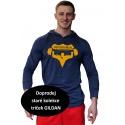 Tričko s kapucí Superhuman - modrá/žlutá S