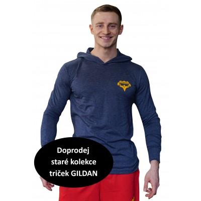 Tričko s kapucí Super Human modrá